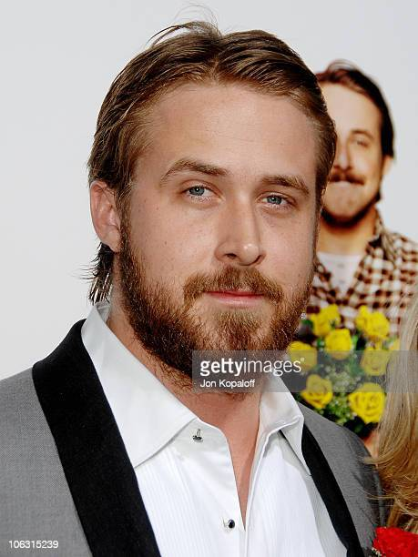 Actor Ryan Gosling arrives at the Los Angeles Premiere 'Lars and The Real Girl' at the Academy of Motion Picture Arts Sciences on October 2 2007 in...