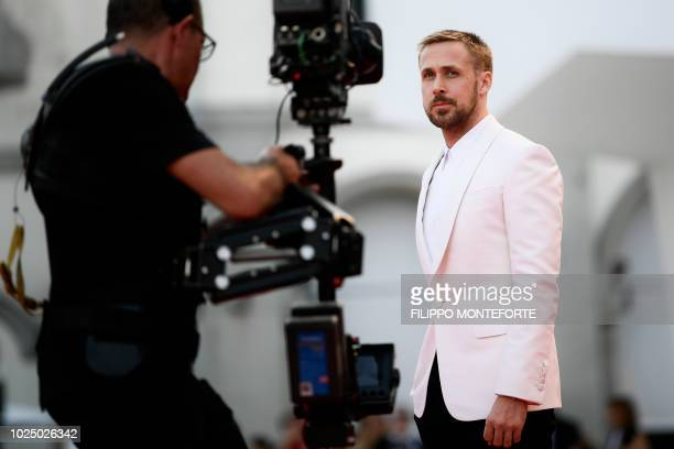 Actor Ryan Gosling arrives for the opening ceremony and the premiere of the film First Man presented in competition at the 75th Venice Film Festival...