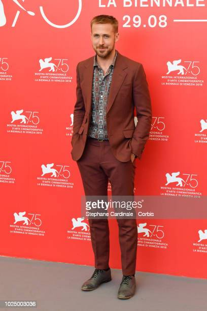 Actor Ryan Gosling attends 'First Man' photocall during the 75th Venice Film Festival at Sala Casino on August 29 2018 in Venice Italy