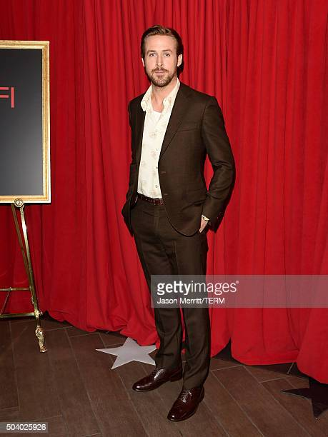 Actor Ryan Gosling attends the 16th Annual AFI Awards at Four Seasons Hotel Los Angeles at Beverly Hills on January 8 2016 in Beverly Hills California