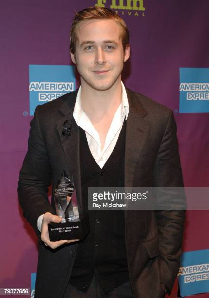 Actor Ryan Gosling attends the 2008 Santa Barbara Film Festival Independent Award Tribute to Ryan Gosling held at the Lobero on January 29 2008 in...