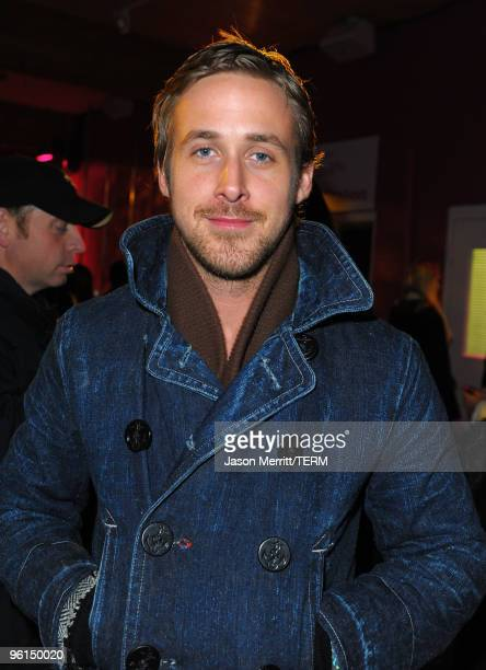 Actor Ryan Gosling attends the 'Blue Valentine' party at the TMobile myTouch Diner at Village at the Yard on January 24 2010 in Park City Utah