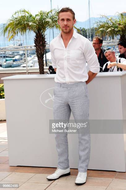 """Actor Ryan Gosling attends the """"Blue Valentine"""" Photocall at the Palais des Festivals during the 63rd Annual Cannes Film Festival on May 18, 2010 in..."""