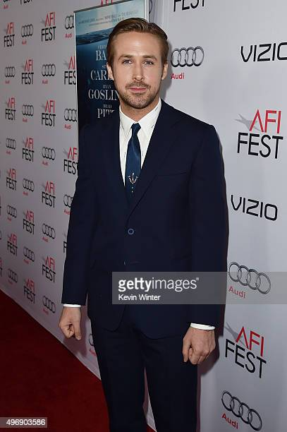 """Actor Ryan Gosling attends the closing night gala premiere of Paramount Pictures' """"The Big Short"""" during AFI FEST 2015 at TCL Chinese Theatre on..."""