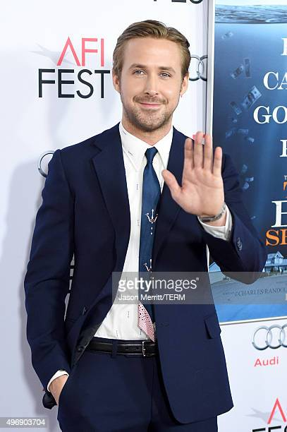 Actor Ryan Gosling attends the closing night gala premiere of Paramount Pictures' The Big Short during AFI FEST 2015 at TCL Chinese Theatre on...