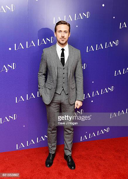 Actor Ryan Gosling attends the Gala screening of 'La La Land' at Ham Yard Hotel on January 12 2017 in London England