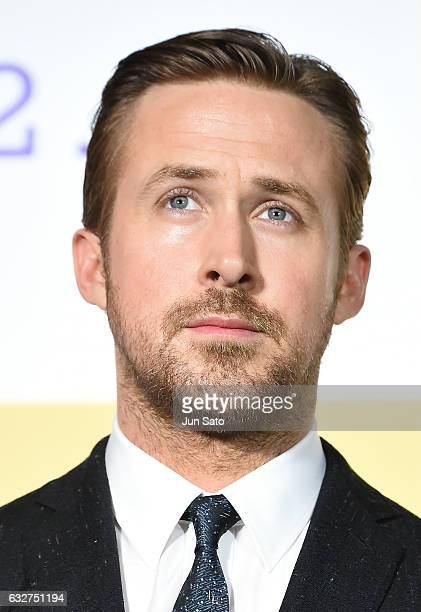 Actor Ryan Gosling attends the Japan premiere of 'La La Land' at Roppongi Hills on January 26 2017 in Tokyo Japan