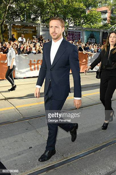 Actor Ryan Gosling attends the La La Land premiere during the 2016 Toronto International Film Festival at Princess of Wales Theatre on September 12...
