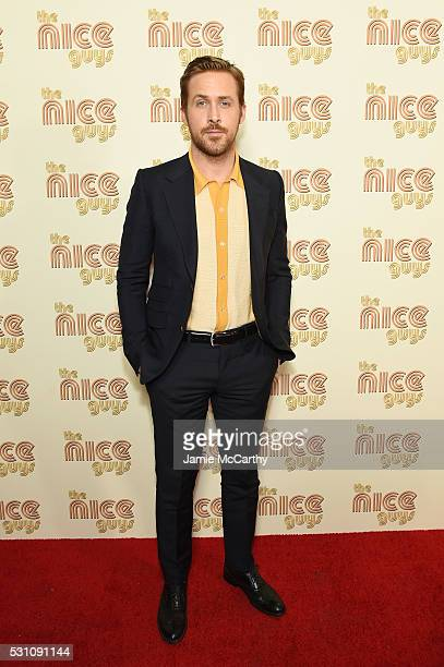 Actor Ryan Gosling attends The Nice Guys New York Screening at Metrograph on May 12 2016 in New York City
