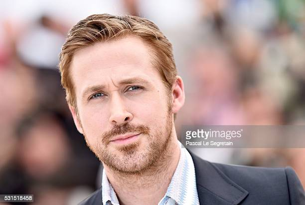 Actor Ryan Gosling attends 'The Nice Guys' photocall during the 69th annual Cannes Film Festival at the Palais des Festivals on May 15 2016 in Cannes...