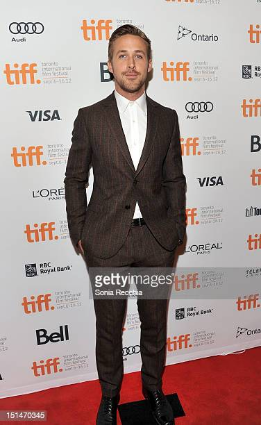 Actor Ryan Gosling attends The Place Beyond The Pines premiere during the 2012 Toronto International Film Festival at Princess of Wales Theatre on...