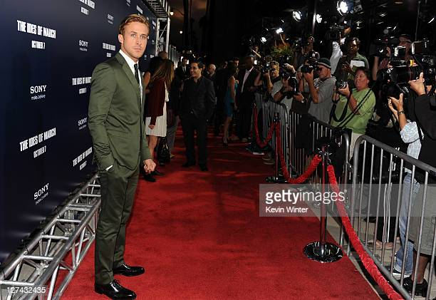 Actor Ryan Gosling attends the Premiere of Columbia Pictures' The Ides Of March held at the Academy of Motion Picture Arts and Sciences' Samuel...