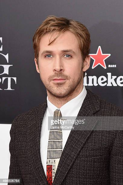 """Actor Ryan Gosling attends the premiere of """"The Big Short"""" at Ziegfeld Theatre on November 23, 2015 in New York City."""