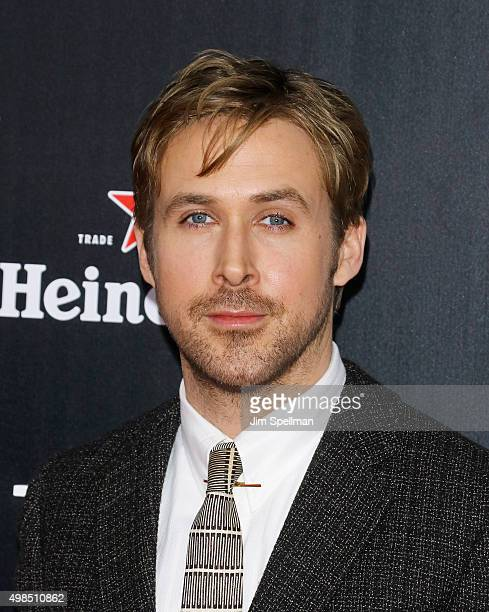 """Actor Ryan Gosling attends the """"The Big Short"""" New York premiere at Ziegfeld Theater on November 23, 2015 in New York City."""