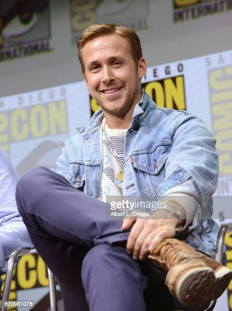 Actor Ryan Gosling attends the Warner Bros Pictures Blade Runner 2049 Presentation during ComicCon International 2017 at San Diego Convention Center...