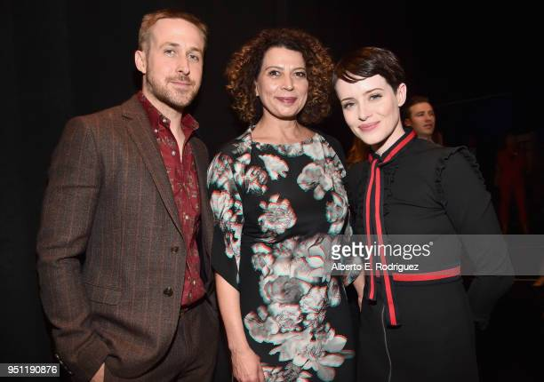 Actor Ryan Gosling Chairman of Universal Pictures Donna Langley and actor Claire Foy attend CinemaCon 2018 Universal Pictures Invites You to a...