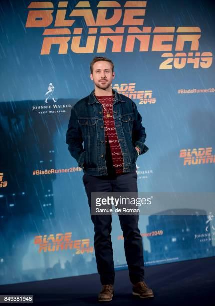 Actor Ryan Gosling during 'Blade Runner 2049' Madrid Photocall on September 19, 2017 in Madrid, Spain.