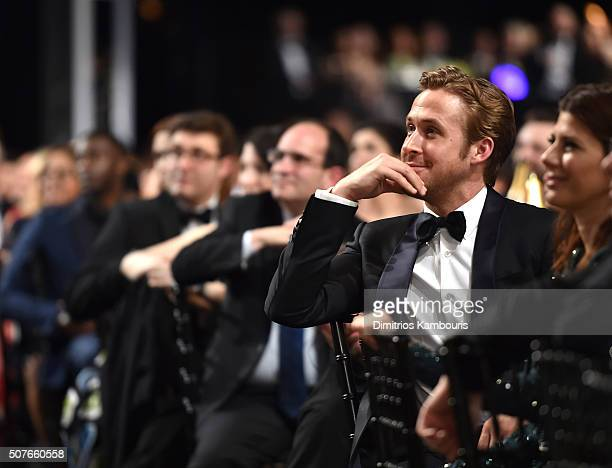 Actor Ryan Gosling during The 22nd Annual Screen Actors Guild Awards at The Shrine Auditorium on January 30 2016 in Los Angeles California 25650_013
