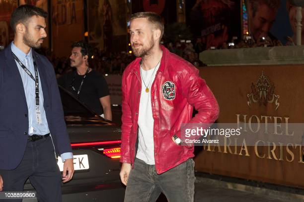 Actor Ryan Gosling is seen arriving at the Maria Cristina Hotel during the 66th San Sebastian International Film Festival on September 23 2018 in San...