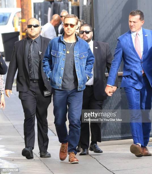 Actor Ryan Gosling is seen on October 3 2017 in Los Angeles California