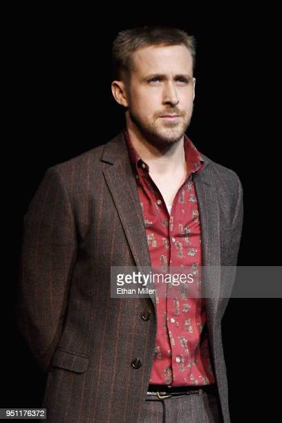 Actor Ryan Gosling onstage during CinemaCon 2018 Universal Pictures Invites You to a Special Presentation Featuring Footage from its Upcoming Slate...