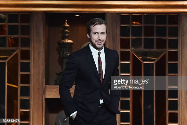 Actor Ryan Gosling speaks onstage at the 68th Annual Directors Guild Of America Awards at the Hyatt Regency Century Plaza on February 6 2016 in Los...