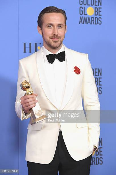 Actor Ryan Gosling winner for Best Actor in a Musical or Comedy Film for 'La La Land' poses in the press room during the 74th Annual Golden Globe...