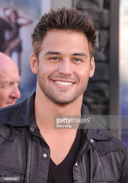 Actor Ryan Guzman and actress Kathryn McCormick arrive at the Los Angeles Premiere Rock of Ages at Grauman's Chinese Theatre on June 8 2012 in...