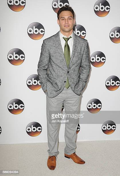Actor Ryan Guzman arrives at Disney ABC Television Group Hosts TCA Summer Press Tour at the Beverly Hilton Hotel on August 4 2016 in Beverly Hills...