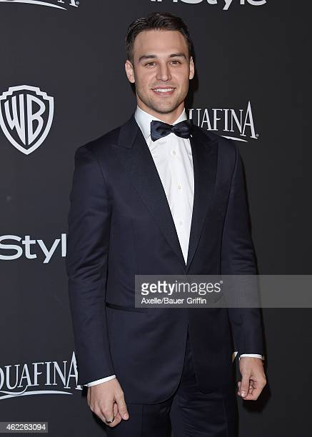 Actor Ryan Guzman arrives at the 16th Annual InStyle and Warner Bros Golden Globe AfterParty at The Beverly Hilton Hotel on January 11 2015 in...