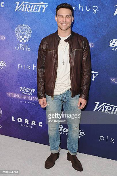 Actor Ryan Guzman arrives at Variety's Power Of Young Hollywood at NeueHouse Hollywood on August 16 2016 in Los Angeles California
