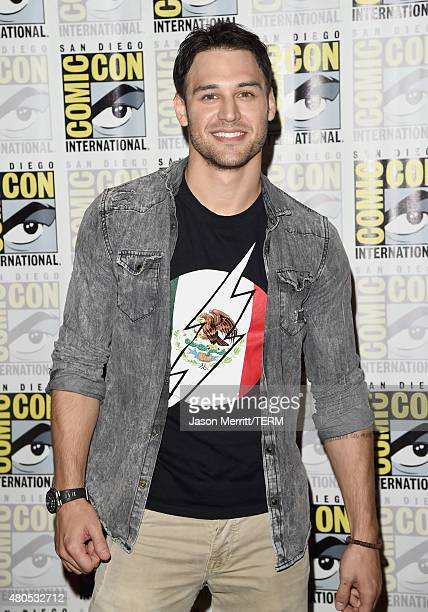 Actor Ryan Guzman attends 'Heroes Reborn' Press Room during ComicCon International 2015 at Hilton Bayfront on July 12 2015 in San Diego California