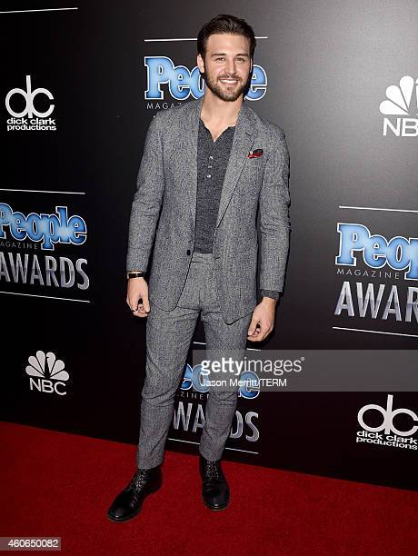 Actor Ryan Guzman attends the PEOPLE Magazine Awards at The Beverly Hilton Hotel on December 18 2014 in Beverly Hills California
