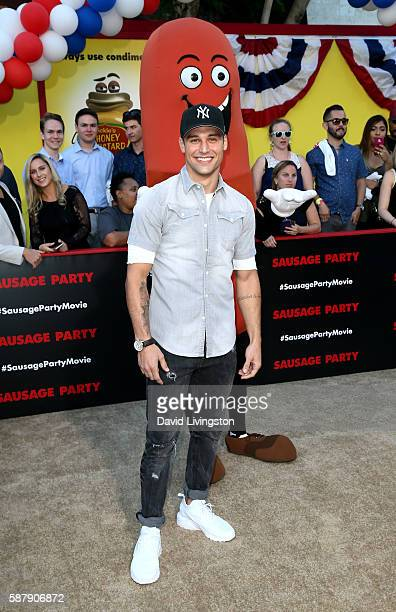 Actor Ryan Guzman attends the premiere of Sony's 'Sausage Party' at Regency Village Theatre on August 9 2016 in Westwood California