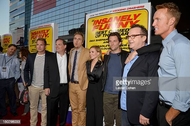 Actor Ryan Hansen, Open Road Films CEO Tom Ortenberg, actors Dax Shepard, Kristen Bell, Bradley Cooper, Tom Arnold, and Jess Rowland arrive at the...