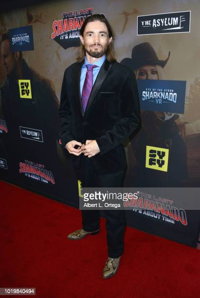 Actor Ryan Kiser arrives for the Premiere Of The Asylum And Syfy's 'The Last Sharknado It's About Time' held at Cinemark Playa Vista on August 19...