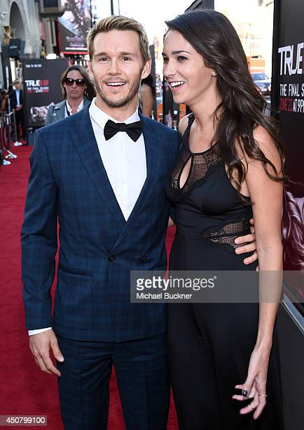 Actor Ryan Kwanten and Ashley Sisino attend Premiere Of HBO's True Blood Season 7 And Final Season at TCL Chinese Theatre on June 17 2014 in...