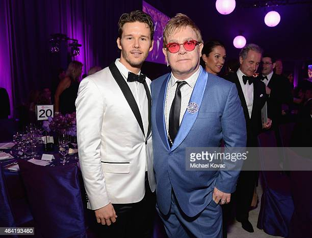 Actor Ryan Kwanten and Elton John attend the 23rd Annual Elton John AIDS Foundation Academy Awards Viewing Party on February 22 2015 in Los Angeles...