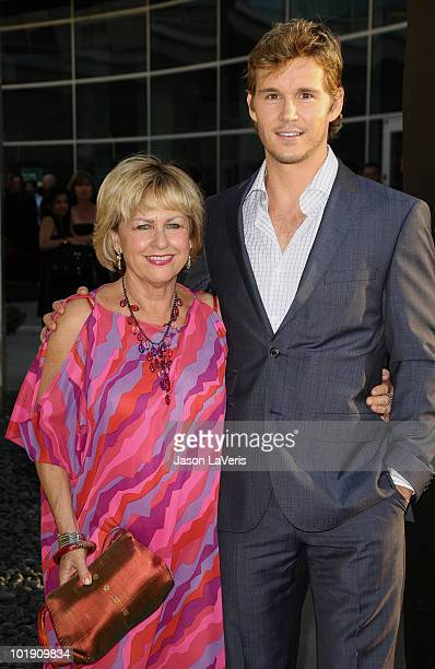 Actor Ryan Kwanten and his mother attend the third season premiere of HBO's 'True Blood' at ArcLight Cinemas Cinerama Dome on June 8 2010 in...