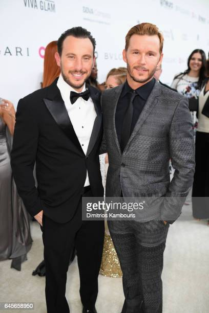 Actor Ryan Kwanten and Lloyd Kwanten attend the 25th Annual Elton John AIDS Foundation's Academy Awards Viewing Party at The City of West Hollywood...