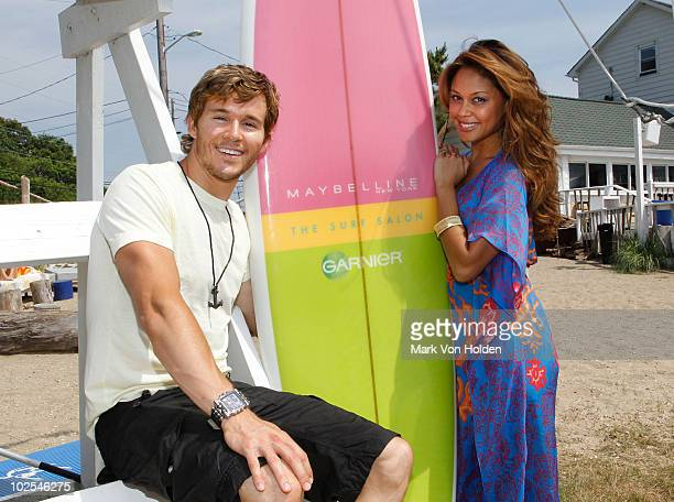 Actor Ryan Kwanten and model/actress Vanessa Minnillo attend Maybelline New York Garnier Surf Salon at The Surf Lodge on June 26 2010 in Montauk New...
