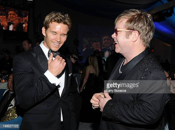 Actor Ryan Kwanten and Sir Elton John attend the 20th Annual Elton John AIDS Foundation Academy Awards Viewing Party at The City of West Hollywood...