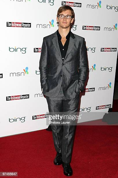 Actor Ryan Kwanten arrives at The Hollywood Reporter Reception Honoring Oscar Nominees at The Getty House on March 4 2010 in Los Angeles California
