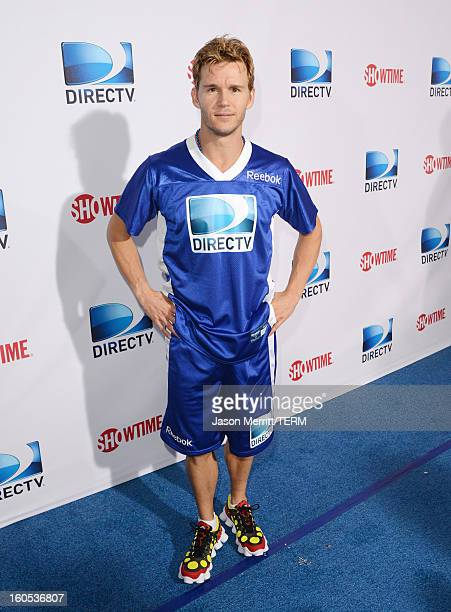 Actor Ryan Kwanten attends DIRECTV'S Seventh Annual Celebrity Beach Bowl at DTV SuperFan Stadium at Mardi Gras World on February 2 2013 in New...