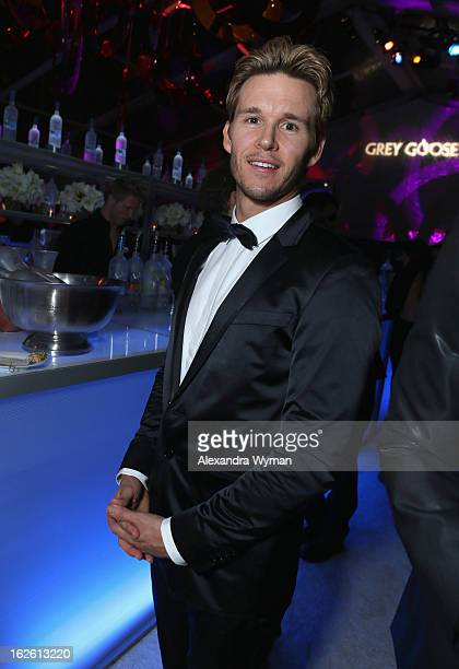 Actor Ryan Kwanten attends Grey Goose at 21st Annual Elton John AIDS Foundation Academy Awards Viewing Party at West Hollywood Park on February 24...