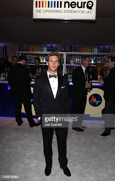Actor Ryan Kwanten attends Neuro Drinks at 20th Annual Elton John AIDS Foundation Academy Awards Viewing Party at The City of West Hollywood Park on...