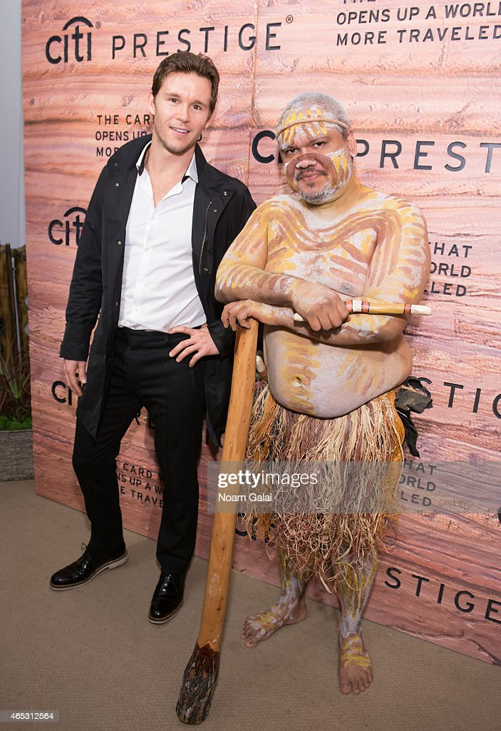 Actor Ryan Kwanten (L) attends the Citi Prestige Card Australia event at The Waterfall Mansion on March 5, 2015 in New York City.
