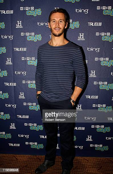 Actor Ryan Kwanten attends the WIRED Cafe during day 2 of ComicCon at Palm Terrace At The Omni Hotel on July 22 2011 in San Diego California