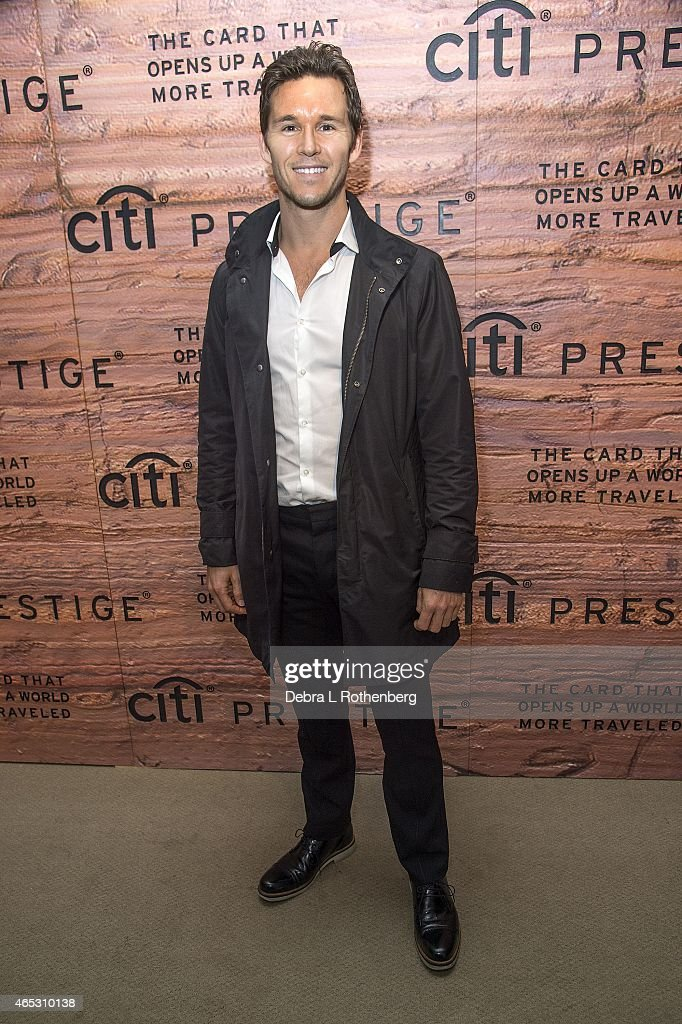 Actor Ryan Kwanten visits New York to share Australian experiences of his homeland in celebration of the elite travel benefits of the Citi Prestige Card at The Waterfall Mansion on March 5, 2015 in New York City.