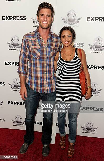 Actor Ryan McPartlin and actress Danielle Kirlin arrives to the 4th Annul Matt Leinart Foundation Celebrity Bowl at Lucky Strike Bowling Alley on...
